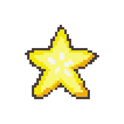 A pixelated starfruit.